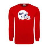 Red Long Sleeve T Shirt-Jags Helmet