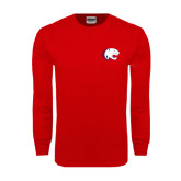 Red Long Sleeve T Shirt-Jag Head