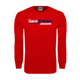 Red Long Sleeve T Shirt-South Alabama Jaguars