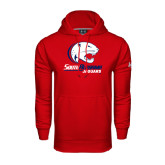 Under Armour Red Performance Sweats Team Hood-Official Logo
