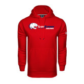 Under Armour Red Performance Sweats Team Hoodie-Jaguar Head w/ Flat Logo