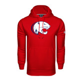 Under Armour Red Performance Sweats Team Hood-Jag Head