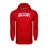 Under Armour Red Performance Sweats Team Hoodie-South Alabama Jaguars Arched