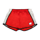 Ladies Red/White Team Short-Jag Head