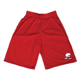 Midcourt Performance Red 9 Inch Game Short-Official Logo