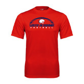 Performance Red Tee-South Alabama Football Arched