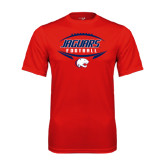 Performance Red Tee-Jaguars Football In Ball