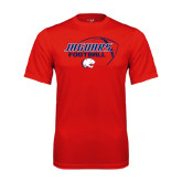 Performance Red Tee-Jaguars Football Stacked