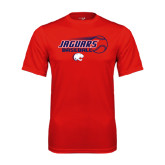 Performance Red Tee-Jaguars Baseball Flying Ball