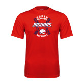 Performance Red Tee-Jaguars Softball Seams