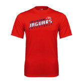 Performance Red Tee-South Alabama Jaguars Basketball Slanted