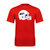 Performance Red Tee-Jags Helmet