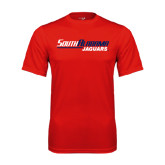 Performance Red Tee-South Alabama Jaguars