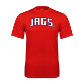 Performance Red Tee-Jags Arched