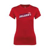 Ladies Syntrel Performance Red Tee-South Alabama Jaguars Basketball Slanted