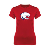Ladies Syntrel Performance Red Tee-Jag Head