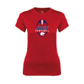 Ladies Syntrel Performance Red Tee-Jags Football Tall