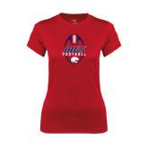 Ladies Syntrel Performance Red Tee-Jags Football Tall