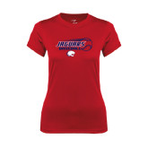 Ladies Syntrel Performance Red Tee-Jaguars Baseball Flying Ball