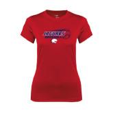 Ladies Syntrel Performance Red Tee-Jaguars Baseball Flying Ball