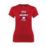 Ladies Syntrel Performance Red Tee-Jaguars Softball Seams