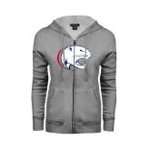 ENZA Ladies Grey Fleece Full Zip Hoodie-Jag Head