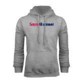 Grey Fleece Hoodie-South Alabama Flat Logo