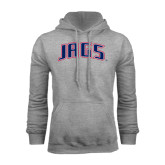 Grey Fleece Hood-Jags Arched
