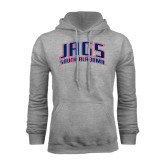 Grey Fleece Hoodie-Jags South Alabama Arched