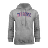 Grey Fleece Hoodie-South Alabama Jaguars Arched