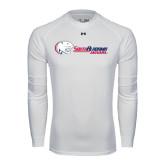 Under Armour White Long Sleeve Tech Tee-Jaguar Head w/ Flat Logo