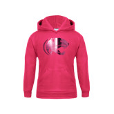 Youth Raspberry Fleece Hoodie-Jag Head Foil