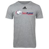 Adidas Sport Grey Logo T Shirt-Jaguar Head w/ Flat Logo