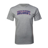 Grey T Shirt-South Alabama Jaguars Arched