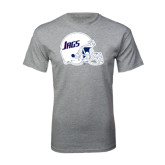 Grey T Shirt-Jags Helmet