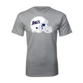 Grey T Shirt-Jags Helmet