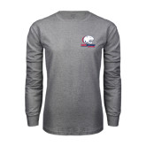 Grey Long Sleeve T Shirt-Official Logo