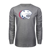 Grey Long Sleeve T Shirt-Jag Head Distressed