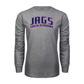 Grey Long Sleeve T Shirt-Jags South Alabama Arched