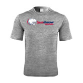 Performance Grey Heather Contender Tee-Jaguar Head w/ Flat Logo