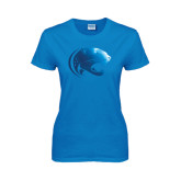 Ladies Sapphire T Shirt-Jag Head Foil