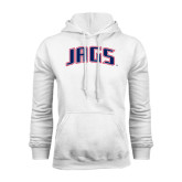 White Fleece Hood-Jags Arched