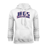 White Fleece Hoodie-Jags South Alabama Arched