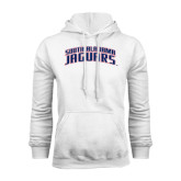 White Fleece Hood-South Alabama Jaguars Arched