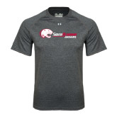 Under Armour Carbon Heather Tech Tee-Jaguar Head w/ Flat Logo