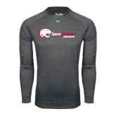 Under Armour Carbon Heather Long Sleeve Tech Tee-Jaguar Head w/ Flat Logo
