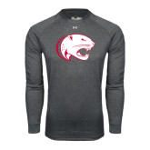 Under Armour Carbon Heather Long Sleeve Tech Tee-Jag Head