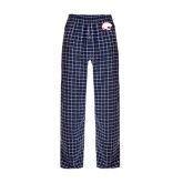 Navy/White Flannel Pajama Pant-Jag Head