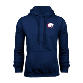 Navy Fleece Hoodie-Jag Head
