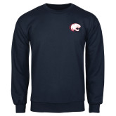 Navy Fleece Crew-Jag Head